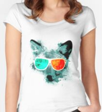 3D Fox Vision Women's Fitted Scoop T-Shirt