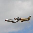 MiG-15 & F-86 Sabre by jules572