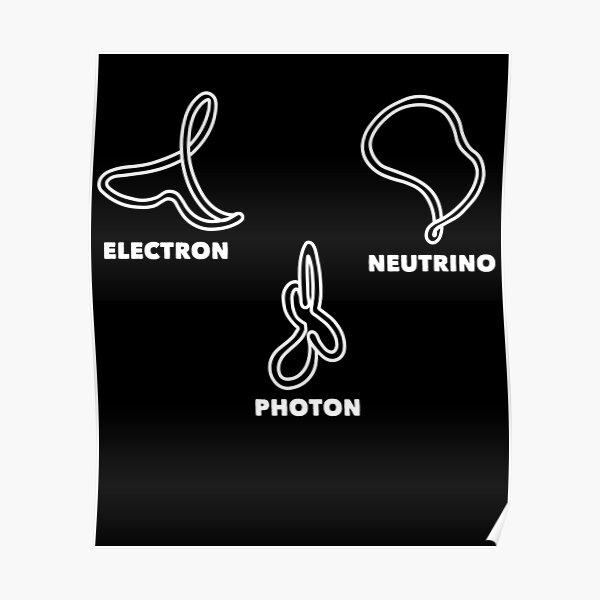 String theory electron neutrino photon Poster