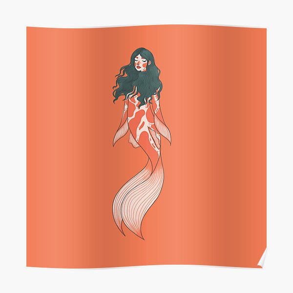 Koi mermaid Poster