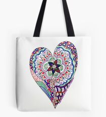 A Liitle Doodle Heart Tote Bag