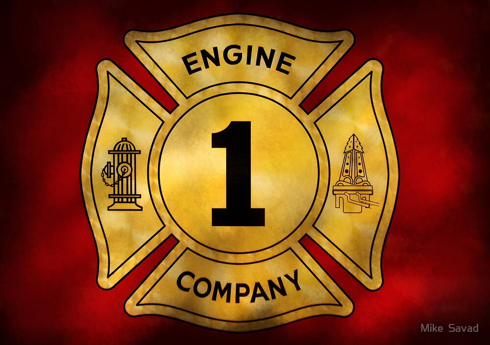 Fireman - Engine Company 1 by Mike  Savad