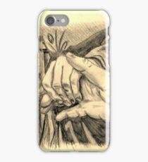 Hands in sepia iPhone Case/Skin