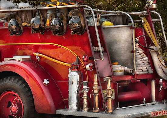 Fireman - Ready for a fire by Michael Savad