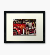 Fireman - Ready for a fire Framed Print