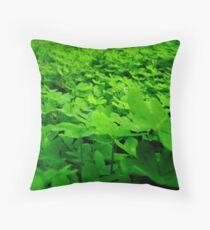 sea of green. Throw Pillow