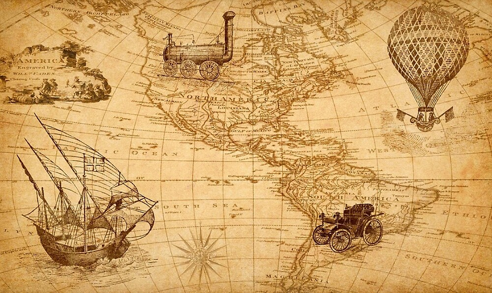 OLD MAP OF AMERICA, VINTAGE\