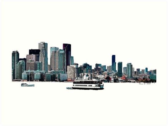 Toronto Port-lands with Island Ferry by ninasilver