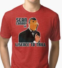 Sean Canary: License to Trill outlined Tri-blend T-Shirt
