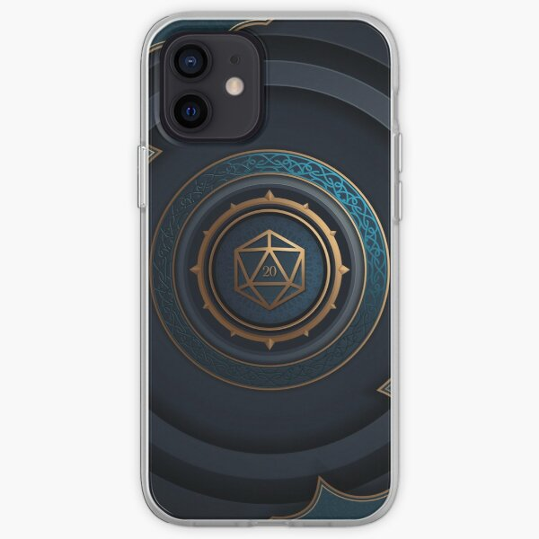 Fantasy Polyhedral D20 Dice Lock iPhone Soft Case