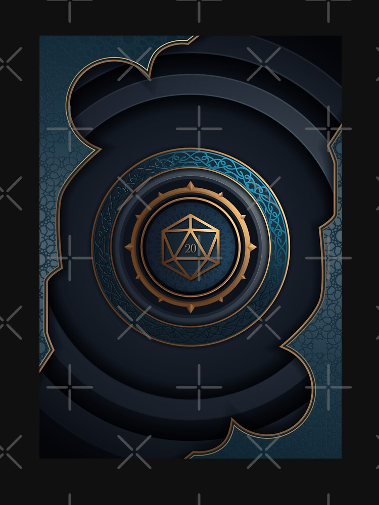 Fantasy Polyhedral D20 Dice Lock de pixeptional