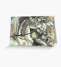 Armoured Horse Greeting Card
