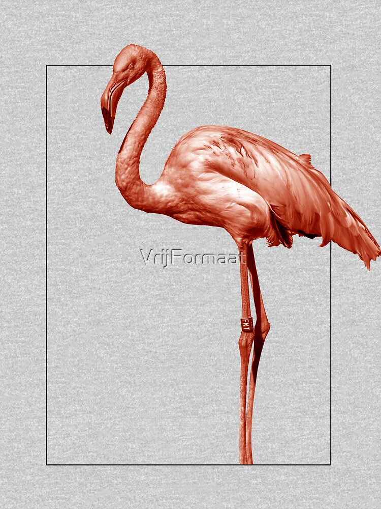 Monochrome - pink flamingo nr 1 by VrijFormaat