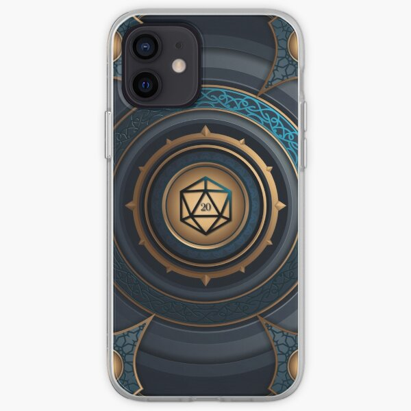 Magical Polyhedral D20 Dice Vault iPhone Soft Case