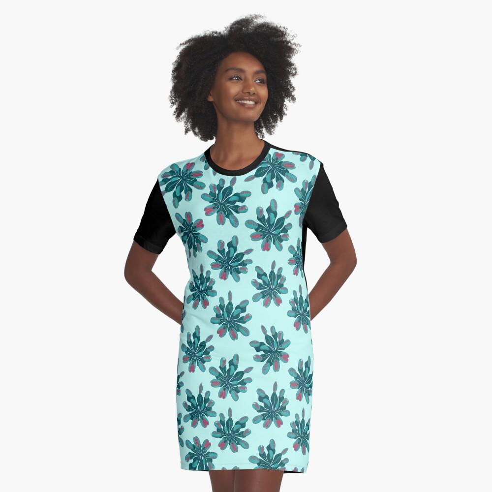 Venus Flytrap Graphic T-Shirt Dress