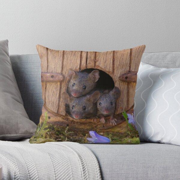 three mice  Throw Pillow