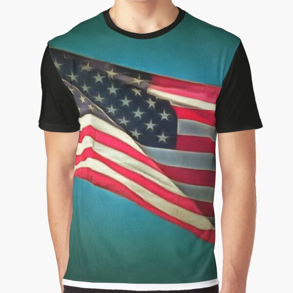 4th of July Flag Flying Graphic T-Shirt