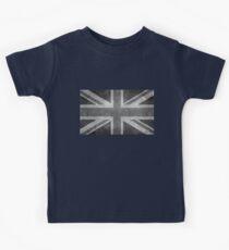 Union Jack Vintage 3:5 Version in grayscale Kids Tee