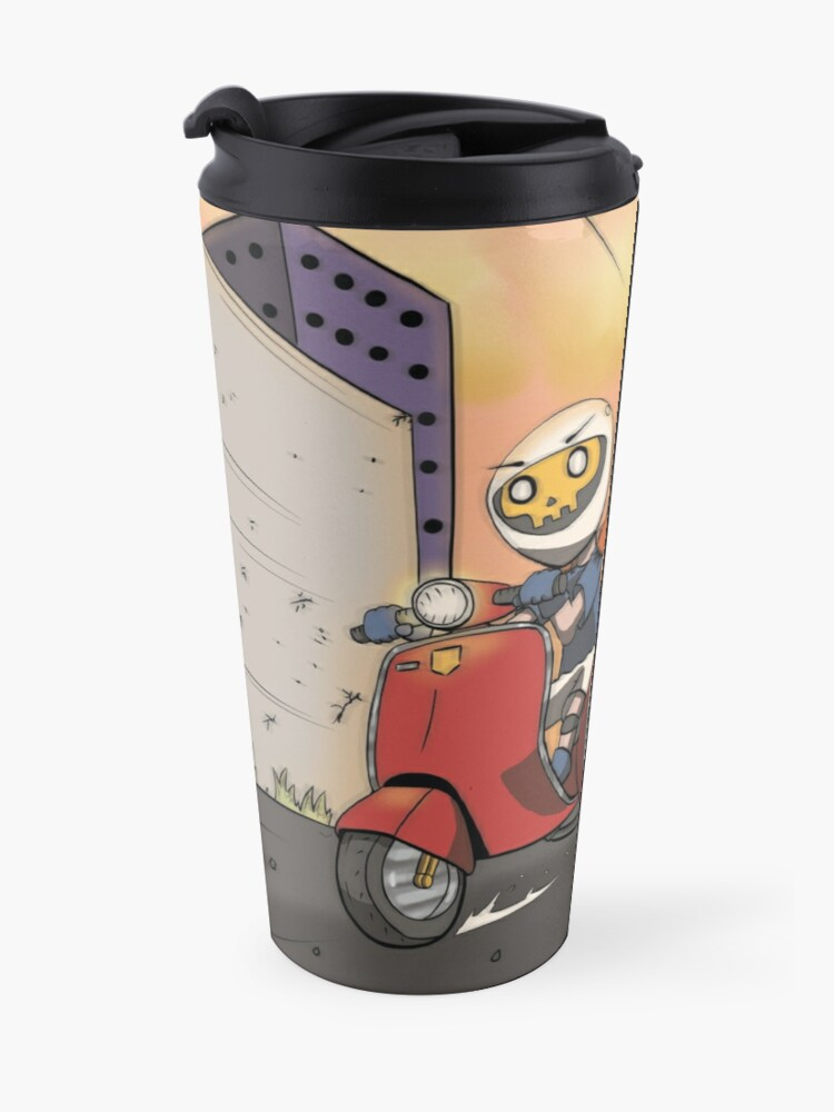 Alternate view of Running the Cops on a Vespa Travel Mug