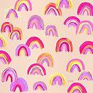 Abstrakte Regenbogen-Bögen - rosafarbene Palette von Cat Coquillette