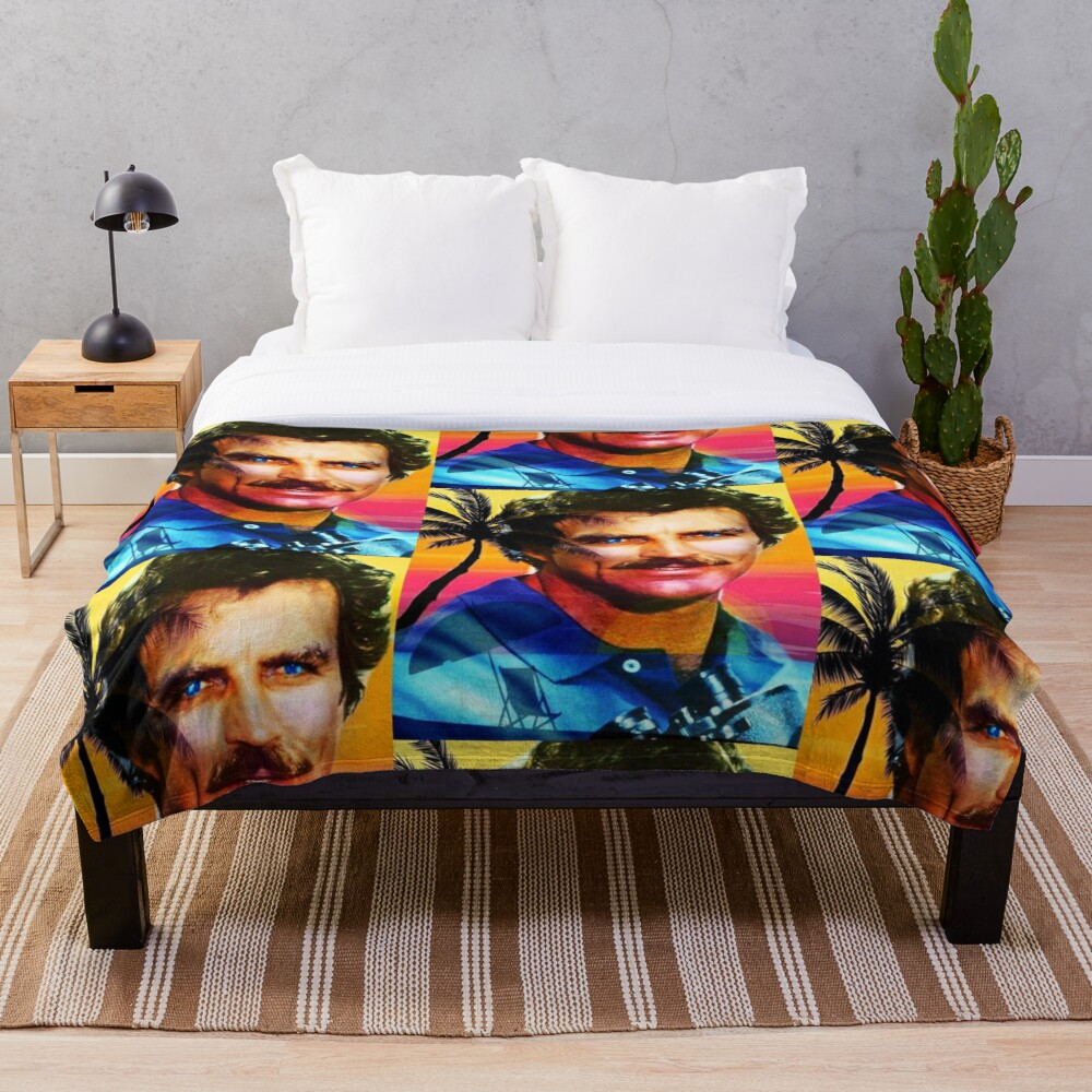 Tom Selleck Throw Blanket
