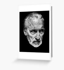 Sir Christopher Lee Greeting Card
