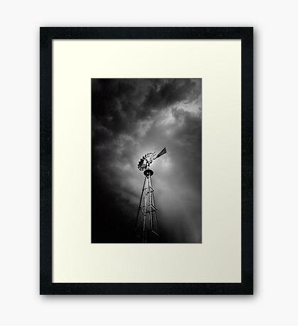 Windmill Attitude Framed Print