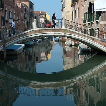 Crossing the Bridge, Venice, Italy by leemcintyre