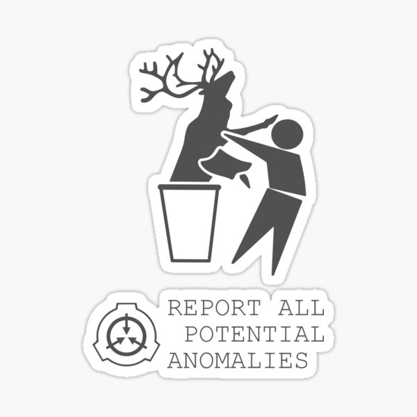 Report all potential anomalies Sticker