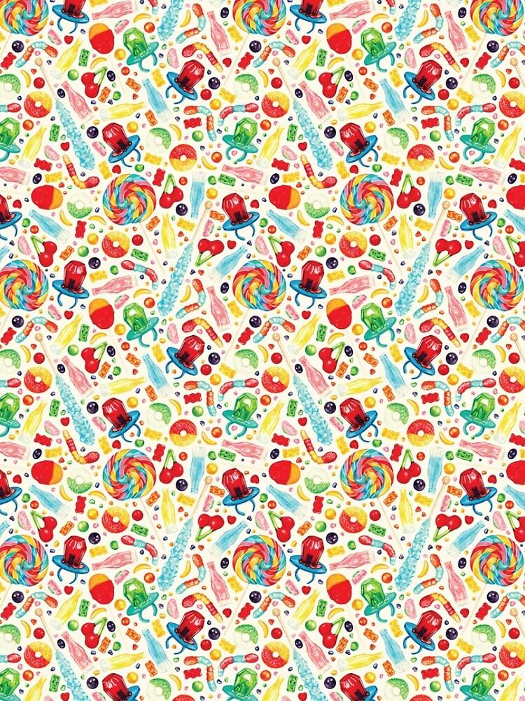 Candy Pattern - White by KellyGilleran