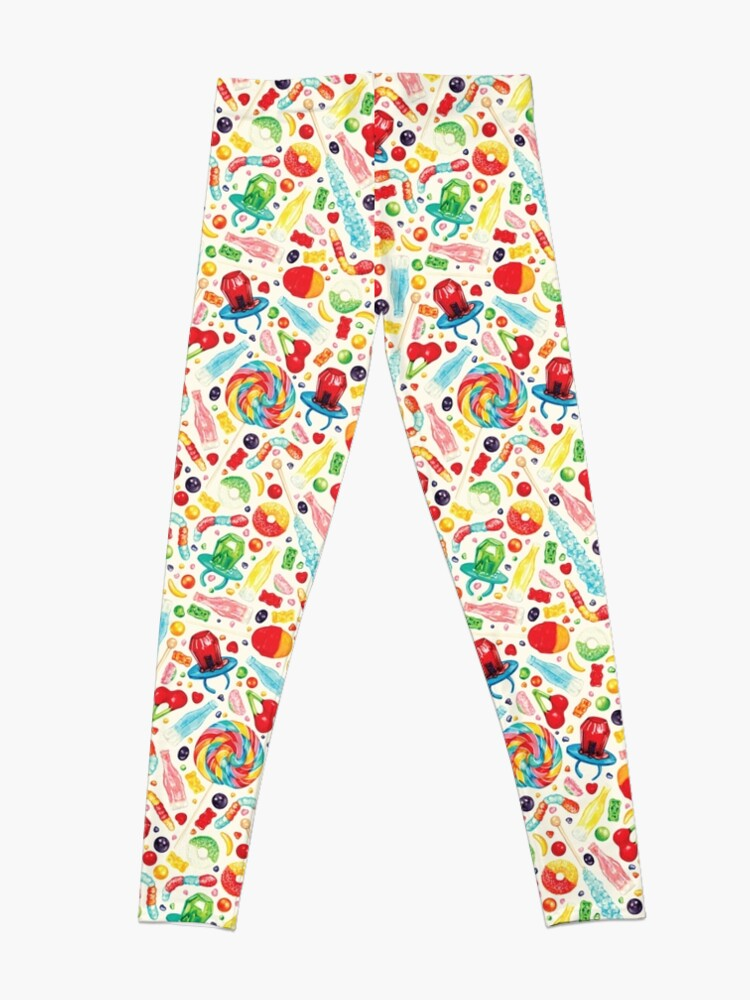 Alternate view of Candy Pattern - White Leggings