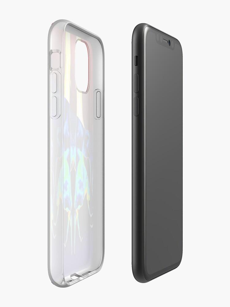 Coque iPhone «Trompettes arc-en-ciel», par JLHDesign