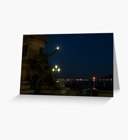 In the palm of her hand, Venice, Italy Greeting Card