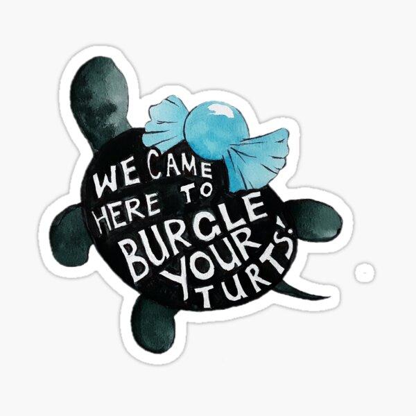 Black Turtle Burgles Sticker
