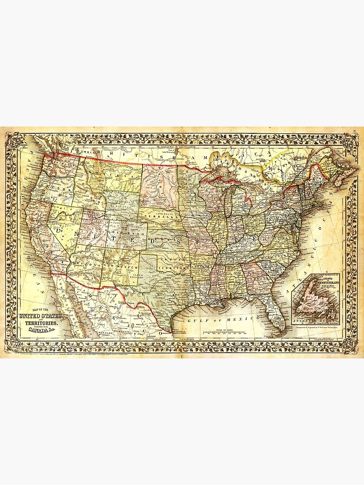 OLD MAP OF AMERICA. | Poster