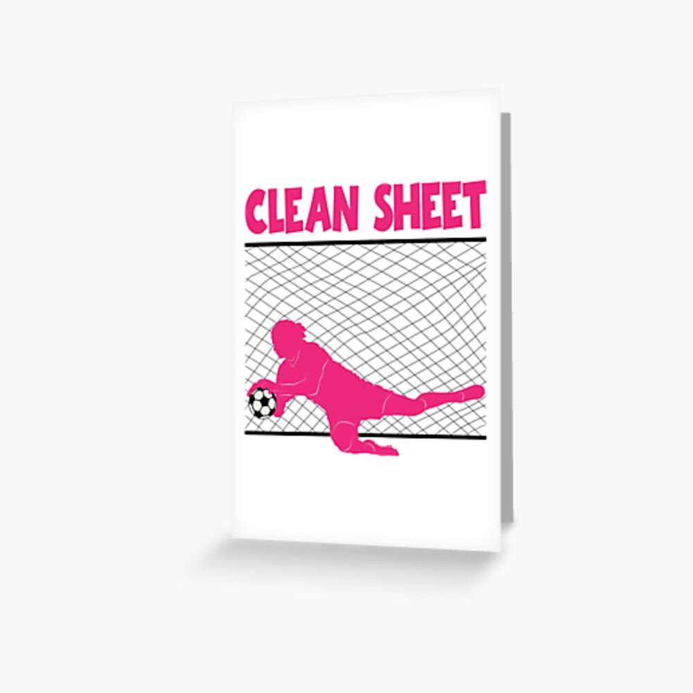 CLEAN SHEET Grußkarte