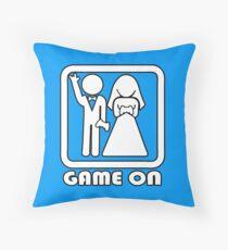 GAME ON 3 Throw Pillow
