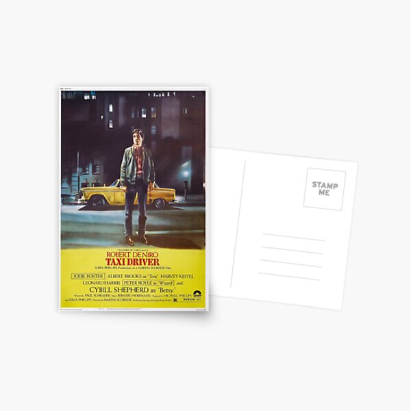 Taxi Driver Poster Artwork for Prints, Posters, Postcards, Tshirts, Bags, Men, Women Postcard