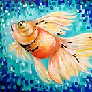Bubbles the Goldfish by Amanda  Shelton