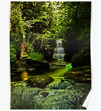 Watersmeet Falls Cascade / Lynmouth / UK Poster