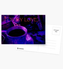 Card. For My Love. Postcards