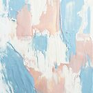 Pink and Blue Abstract Painting by AlexandraStr