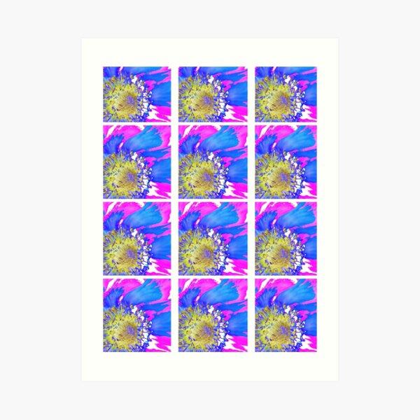 Floral Pop Art Art Print
