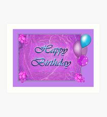 Happy birthday Purpley Art Print