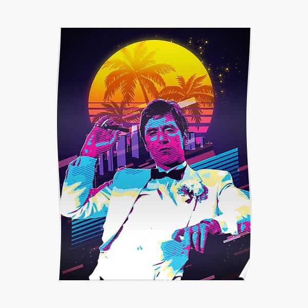 Scarface retro art Poster