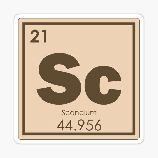 Scandium chemical element Sticker