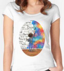 Kämpfen Sie immer wieder Aquarell (2015) REVAMP Tailliertes Rundhals-Shirt