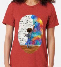 Always Keep Fighting Watercolor Painting (2015) REVAMP Tri-blend T-Shirt