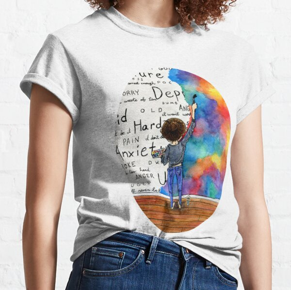 Always Keep Fighting Watercolor Painting (2015) REVAMP Classic T-Shirt