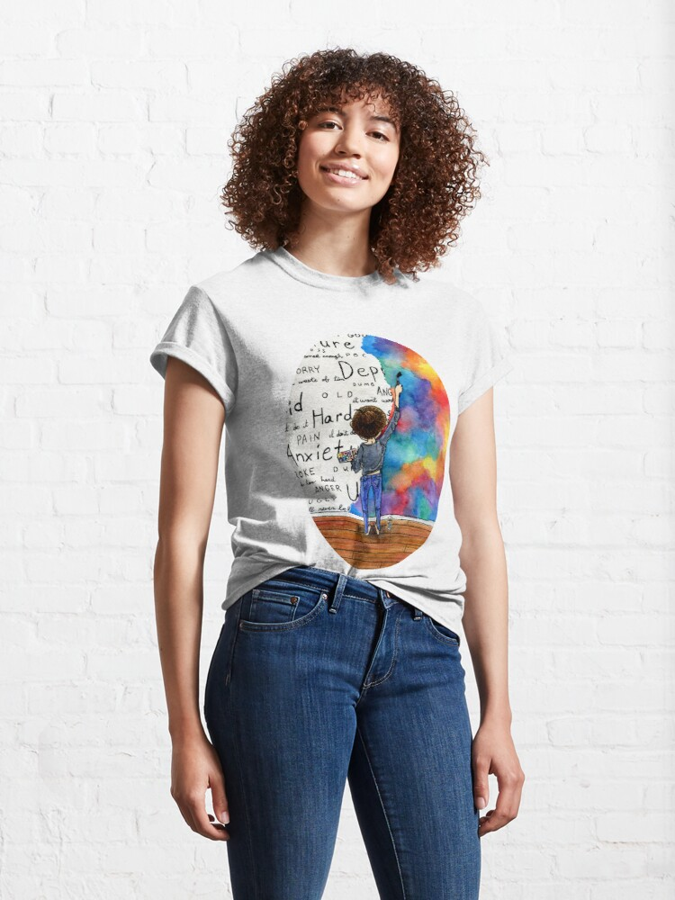 Alternate view of Always Keep Fighting Watercolor Painting (2015) REVAMP Classic T-Shirt